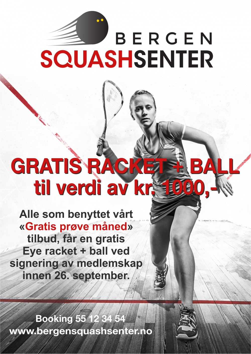 GRATIS RACKET + BALL